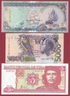 Iles Du Monde 3 Billets ---UNC--(San -Tomé/Maldive/Cuba) - Banconote