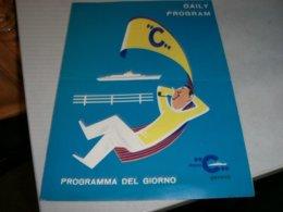 PROGRAMMA GIORNALIERO M/N FRANCA 1970 - Menu