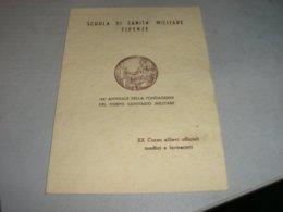 MENU' SCUOLA DI SANITA' MILITARE FIRENZE 1957 - Menu