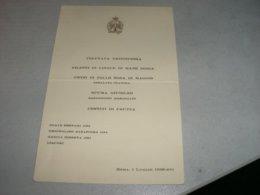 MENU' CIRCOLO DELLE FORZE ARMATE 1938 - Menu