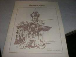 MENU' BUSINESS CLASS ALITALIA LINEA ROMA -DUBAY-BOMBAY ILLUSTRATO - Menus