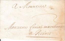 Précurseur LAC 1691 Sans Griffe Port 2 De Mézières à Reims - ....-1700: Precursors