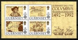 Guernsey 1992 / Ships Europa CEPT Columbus MNH Barcos Colón Schiffe Bateaux / Cu13822  4-23 - Barcos