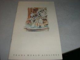MENU' TRANS WORLD AIRLINES - Menu