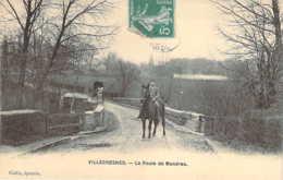 94 VAL De MARNE Attelage Et à Cheval Sur Le Pont Route De Mandres à VILLECRESNES - Villecresnes