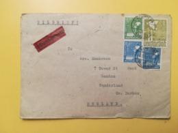 1948 BUSTA GERMANIA DEUTSCHE OCCUPAZIONE BOLLO MEN AT WORK ANNULLO OBLITERE' KEMPTEN  GERMANY - Zona AAS