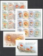 B478 ANTIGUA & BARBUDA FLORA MUSHROOMS #2324-31 MICHEL 23 EURO 2SH+2BL MNH - Pilze