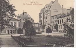 Halle A.S. Alte Promenade Mit Stadttheater Ngl #91.496 - Allemagne