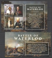 B494 2015 ANTIGUA & BARBUDA WAR BATTLE WATERLOO #5300-4 MICHEL 23 EURO BL+KB MNH - Franz. Revolution