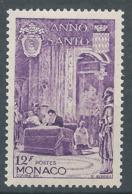 MONACO 1951 - YT N°358 - 12 F. Lilas - Sacre Du Prince Rainier - Année Sainte - Neuf** - TTB Etat - Monaco