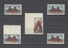 NOUVELLE-CALEDONIE.  YT  N° 274-276  ND (double Impression)  Neuf **  1948 (voir Détail) - Ongetande, Proeven & Plaatfouten