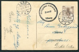 1937 Denmark Vestre Landsret Viborg RP Postcard. Midtjydsk Folkefest, Folk Festival - Aars - 1913-47 (Christian X)