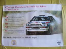 Affiche De Concessionnaire Lancia Delta Intégrale Martini Juha Kankkunen 1991 5 Titres De Champion Du Monde Des Rallyes - Posters