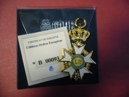 Réplique Exacte De L'ordre Mérite Toscane ITALIE 70 Mm Pour 26 Grammes Par Gode Avec Certificat Garantie - Italia