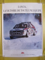 Affiche De Concession Lancia Delta Intégrale Martini Didier Auriol Bernard Occelli 1er Au Rallye De Monté Carlo 1992 - Posters