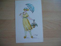 Femme Ombrelle Illustrateur  Serie Silhouettes Porte Bonheur - Femmes