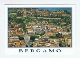 BERGAMO:  CITTA' ALTA  E  CITTA' BASSA  -  PER  LA  SVIZZERA  -  FOTO  AEREA  -  FG - Bergamo