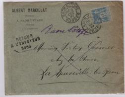 France; Vosges (88) RAON L'ETAPE  TàD Type 17 Bis; 2 Décembre 1897 Sur Sage 15c (n° 101) + Retour 3086 - 1877-1920: Période Semi Moderne