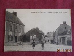 CPA - Saint-Herblain - Place De L'Eglise Et Rue De La Poste - Saint Herblain
