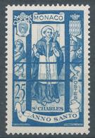 MONACO 1951 - YT N°361 - 25 F. Bleu Clair - Saint Charles - Année Sainte - Neuf** - TTB Etat - Monaco