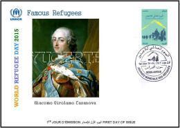 ARGHELIA 2015 - FDC - World Refugee Day Réfugiés Weltflüchtlingstag Casanova Día Mundial Del Refugiado - Réfugiés