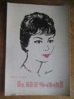 Carton Publicitaire De 1961 -Procédé KURSAAL -Gamme De Produits Professionnels De Soins Capillaires -Dessin De COOREMANS - Pappschilder