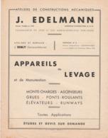 -  77 - ESBLY - Publicité Pour Ateliers De Constructions Mécaniques J. EDEIMANN à ESBLY - 004 - Reclame