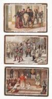 CHOCOLAT D'AIGUEBELLE   Lot De 3 Chromos   Conversion De Witikind, Chevert à Prague, Mme Damoiseau Et Sa Maison - Aiguebelle
