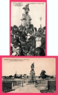 2 Cp Inauguration Monument Français De Noisseville - Cavalerie - Edit. E. MEISTERZHEIM - F. CONRARD - Cliché PRILLOT - Other Municipalities