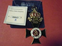 Réplique Exacte De L'ordre St Alexandre BULGARIE 102 Mm Pour 43 Grammes Par Gode Avec Certificat Garantie Et Explicatif - Medaglie