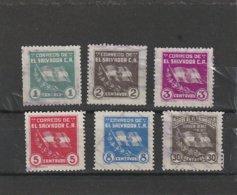 Scott 548-553 Used, Yvert 501-506 Used    081 - El Salvador
