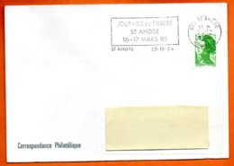 974 ST ANDRE JOURNEE DU TIMBRE  1984   Lettre Entière N° RR 542 - Postmark Collection (Covers)