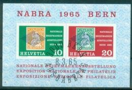 Schweiz 1965   MiNr.   Block 20   O / Used  (s173) - Blocs & Feuillets