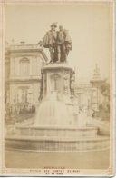 BRUXELLES STATUE DES COMTES D EGMONT ET DE HORN  PHOTOGRAPHIE ANCIENNE SUR CARTON - Monumenten, Gebouwen