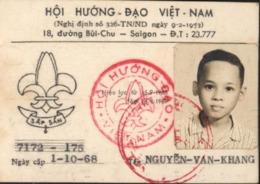 Scoutisme Carte Scout Sap San Cachet Hoi Huong Dao Viêt Nam Vietnam Dos Cachets Dao Cuu Long + Tay Ho - Cartes