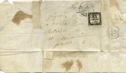 Lettre Taxée De Rouen 1869 - Marcophilie (Lettres)