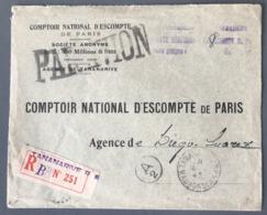 Madagascar, Lettre Recommandée De Tananarive Pour Diego Suarez - Griffe Taxe Aérienne - (B2465) - Madagascar (1889-1960)