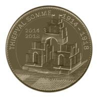 Monnaie De Paris , 2015 ,Thiepval , Le Mémorial 14-18 - Monnaie De Paris