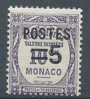 MONACO 1937 - YT N°140 - 5 C. Sur 10 C. Violet - Timbres Taxe De 1924-32 Surchargés - Neuf** - TTB Etat - Nuovi