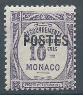 MONACO 1937 - YT N°141 - 10 C. Violet - Timbres Taxe De 1924-32 Surchargés - Neuf** - TTB Etat - Nuovi