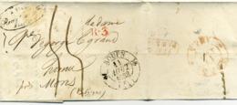 Lettre De Rouen à Mons (Belgique) 1833 - 1801-1848: Précurseurs XIX