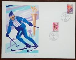 FDC 1968 - YT N°1547 - JEUX OLYMPIQUES D'HIVER - GRENOBLE - Sur Gravure SAINSON - FDC