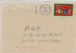 TP 3339  Seul Sur Enveloppe De St Germain Le Vasson - Storia Postale