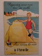 """Carte à Système """"Regardez Sous Mon Tas De Sable, Vous Verrez Les Vues"""". - Saint Pair Sur Mer"""