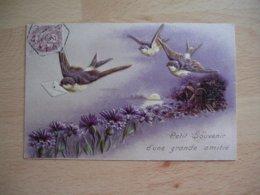 Carte Gaufree Hirondelle Messagere Grande Amitie - Autres