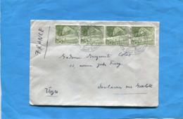 "MARCOPHILIE-SUISSE- Lettre > "" -cad  ST MORITZ-sport Erolung-4 Stamps 10c - Storia Postale"