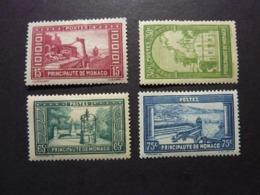 MONACO, Année 1933-37, YT N° 119-122-124-125 Neufs MH (cote 13,20 Euros) - Monaco