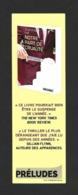 Marque Page Editions Préludes.   Bookmark. - Bladwijzers
