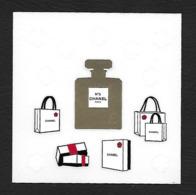 F-Petite Planche De Sticker  CHANEL - Noël 2019 - Perfume Card - USA - Cartes Parfumées