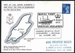 1972 - MAN - Cover + SG 9 [Elizabeth II] + DOUGLAS & CASTLETOWN - Man (Ile De)